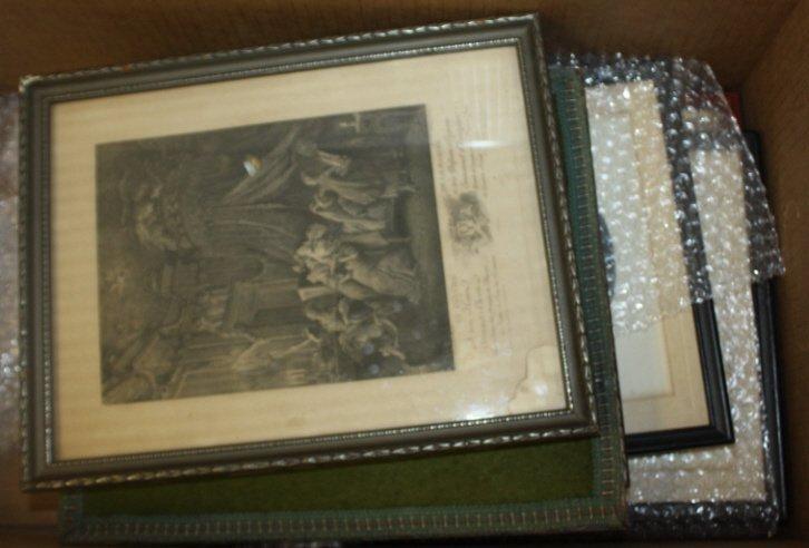 21: Group of framed prints.