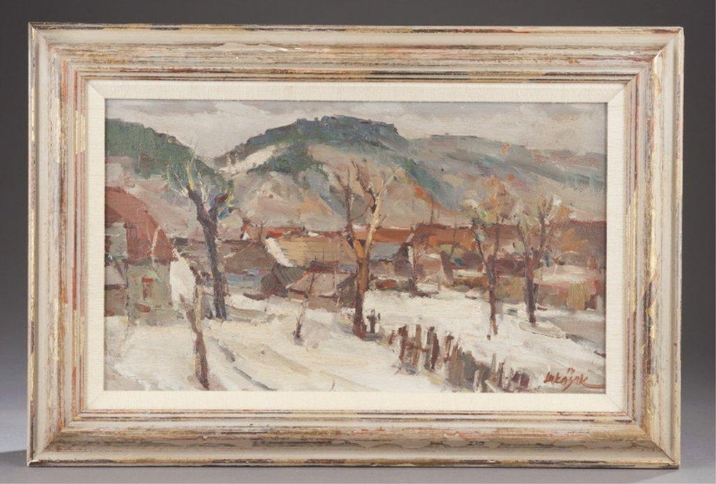 75: Alois Lukasek (1911 - 1984). Winter scene painting