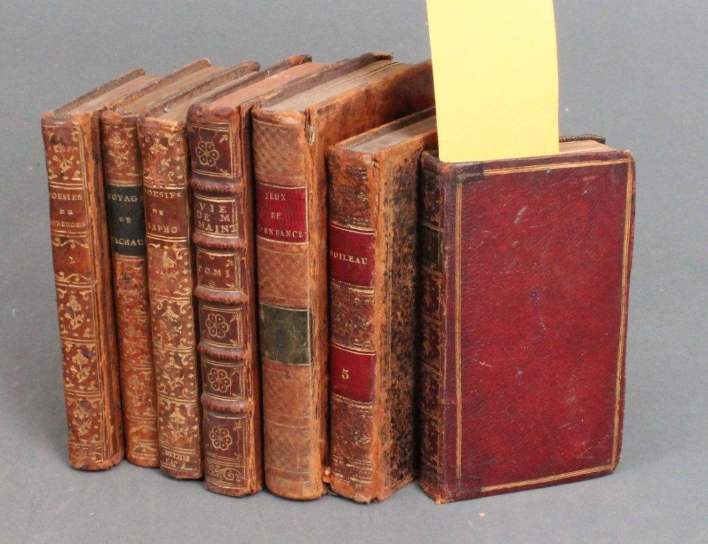 5: 8 Books: Literature/nonfiction, French, 1758-1825.