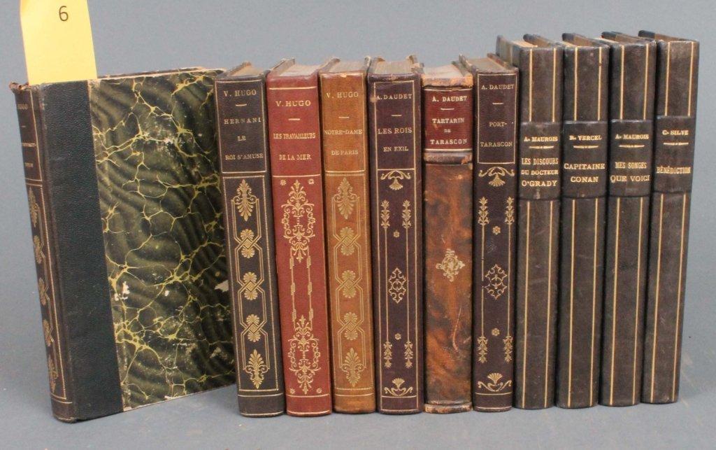 6: 11 Vols: Hugo, Daudet, Vercel, Maurois, Silve.