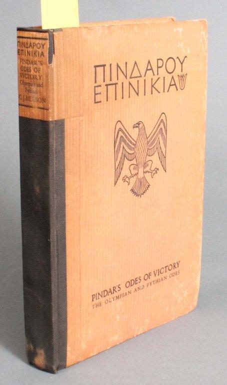22: Pindar's Odes of Victory. 1928. 161/250.