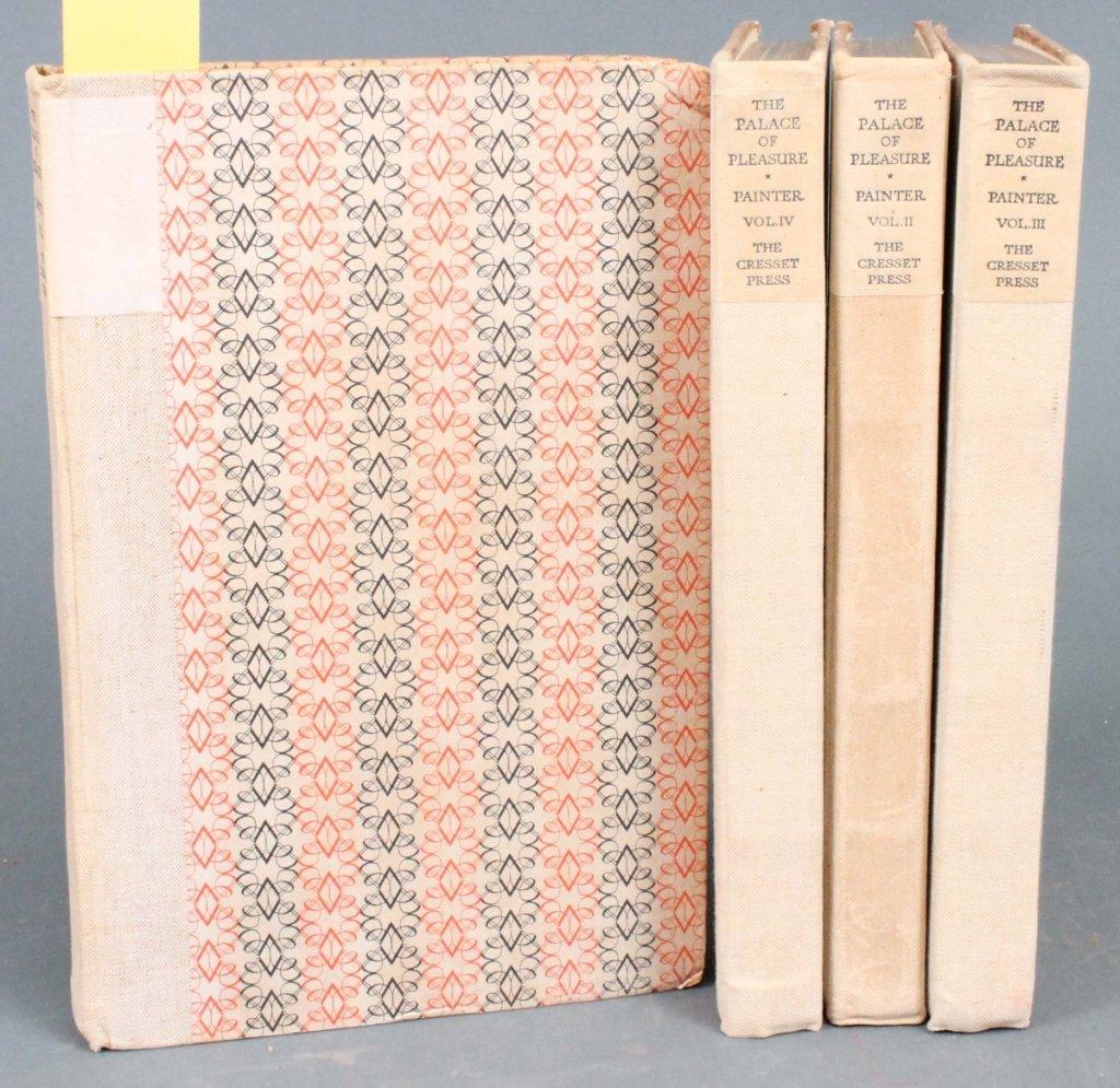 23: Painter. THE PALACE OF PLEASURE. 4 Vols. 1929.