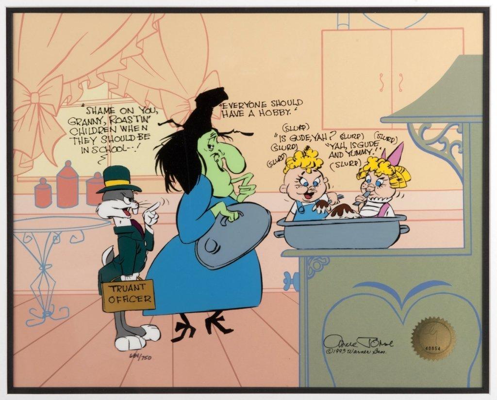 Chuck Jones Bugs Bunny & Witch Hazel Sericel.