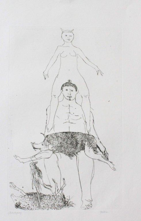 Leonard Baskin. Hyppolytos. Artist's proof.