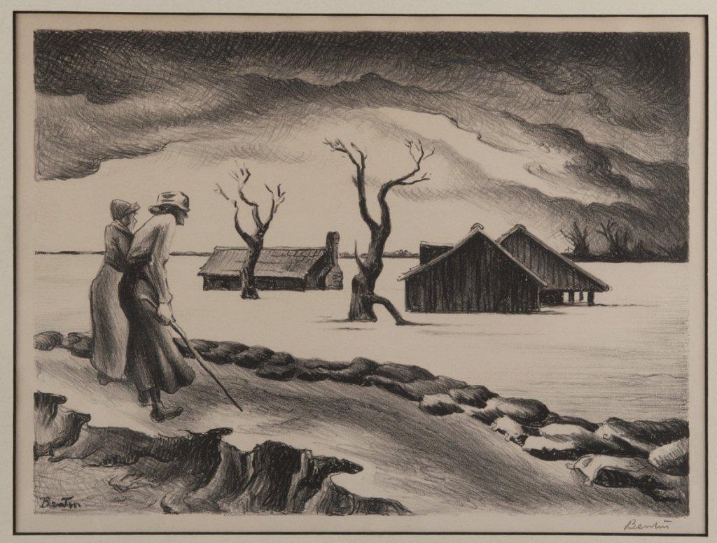 Benton, Thomas Hart. The Flood. Signed.