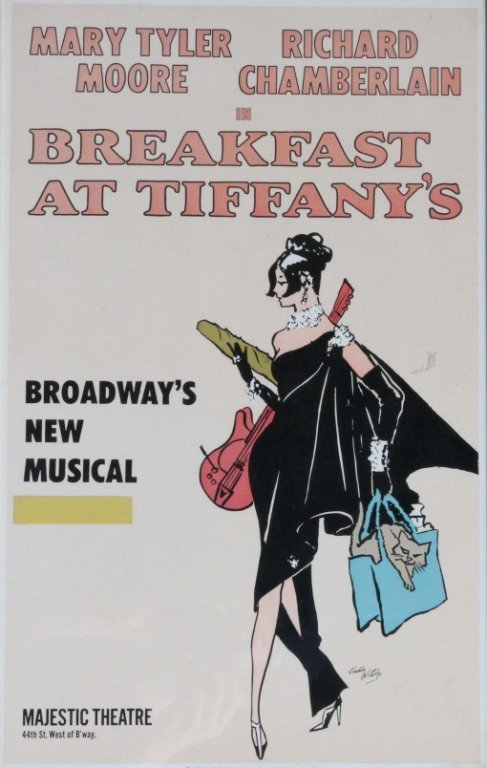 Poster for Broadway show Breakfast at Tiffany's.