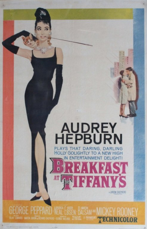 One-sheet movie poster: Breakfast at Tiffany's.