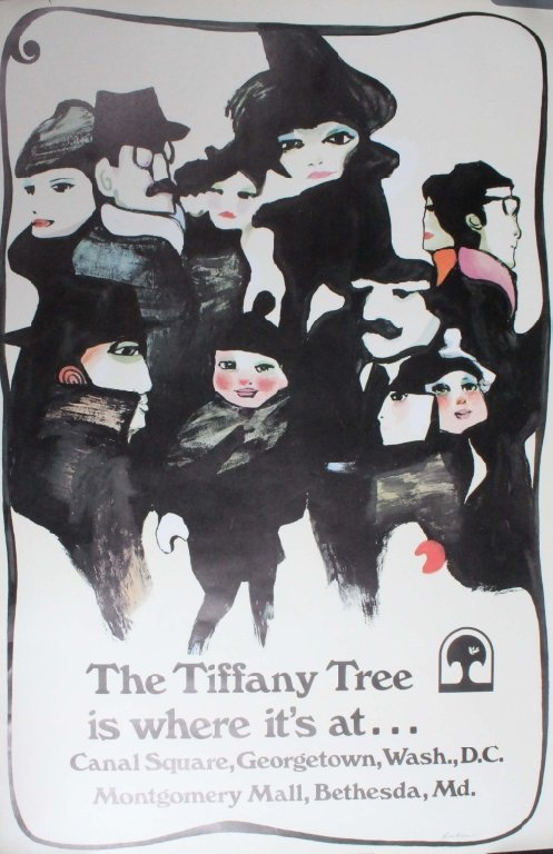 The Tiffany Tree.... Poster by Buckner, signed.