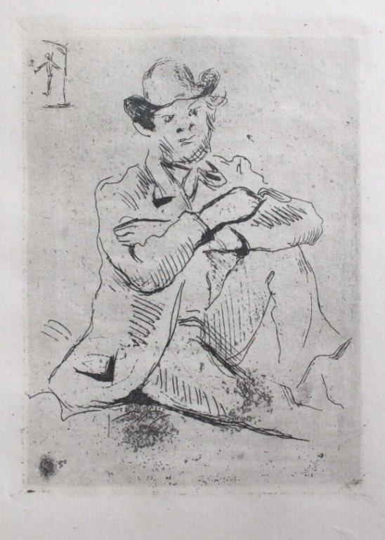Cezanne, Paul. Portrait du Peitnre A. Guillaumin