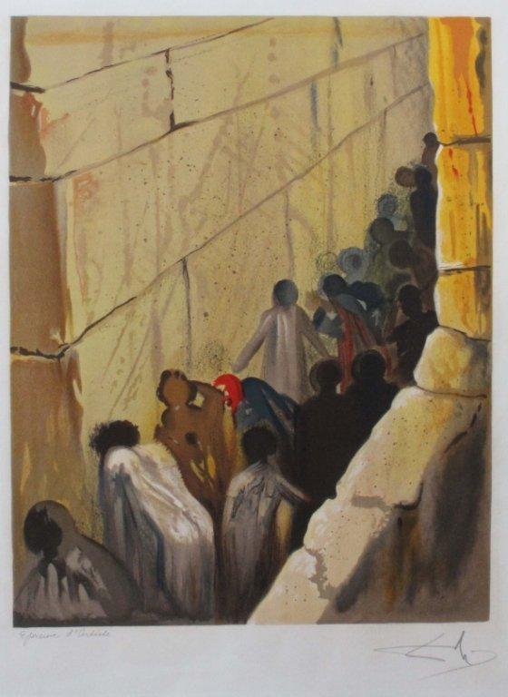 Dali. The Wailing Wall. Signed. EA.