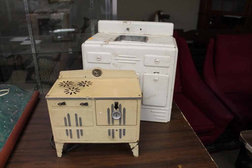2007: Group of 2 mid century childs stove.