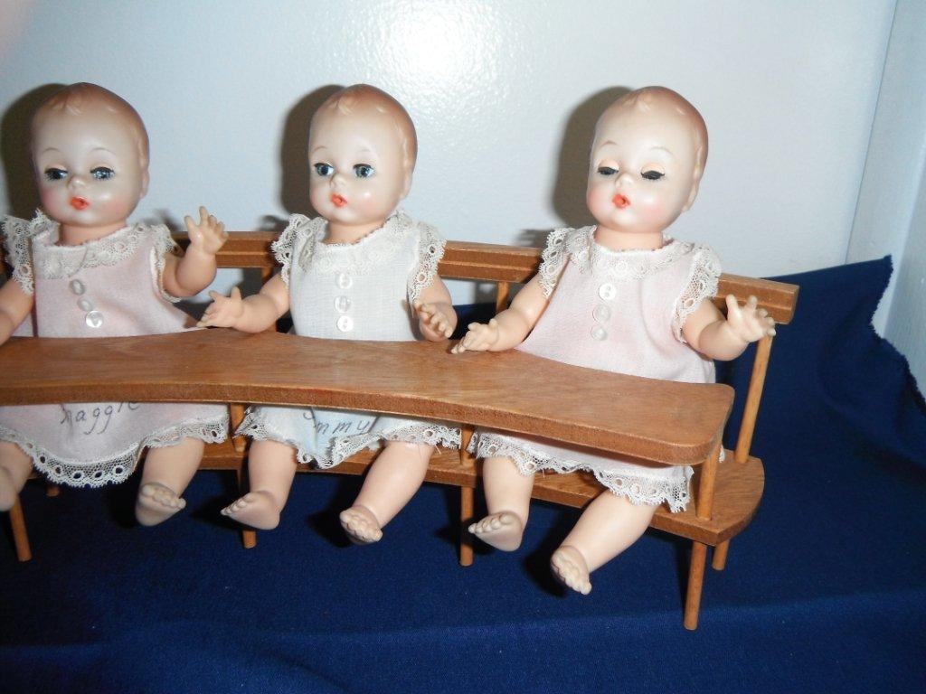 2029: Madame Alexander. Fischer Quints w/ High Chair. - 3