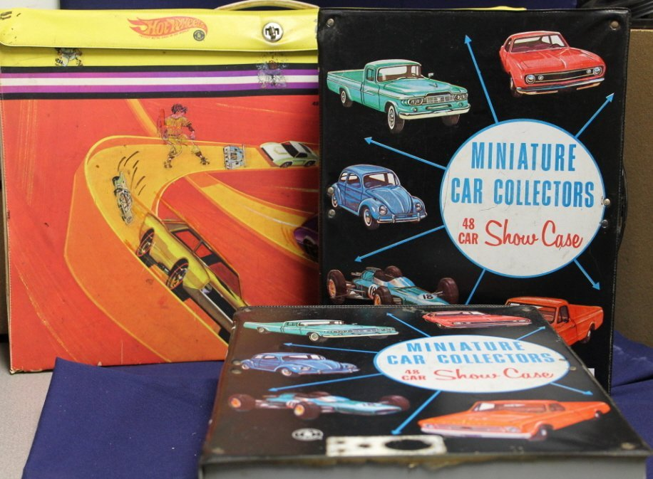 2088: 3 cases of vintage toy cars incl Hot Wheels,
