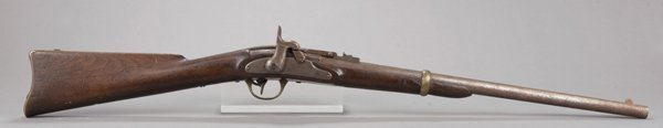 9: Civil War era single shot percussion carbine. Marks