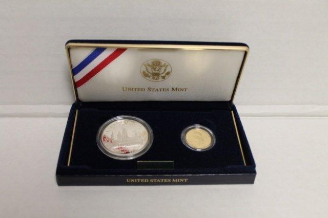14: US Smithsonian Institution Anniversary proof set.