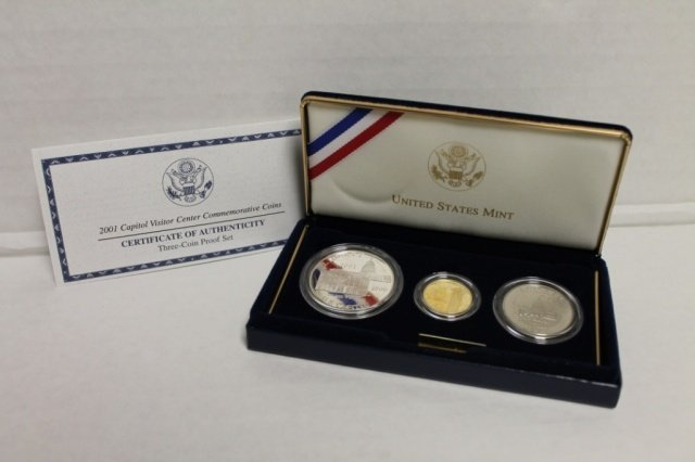 16: 2001 Capitol Visitor Center commemorative coin set