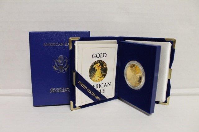 18: 1986 one ounce proof gold bullion coin $50.