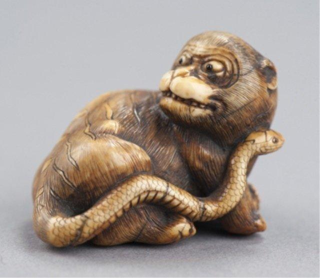 10: An ivory netsuke of Nuye.