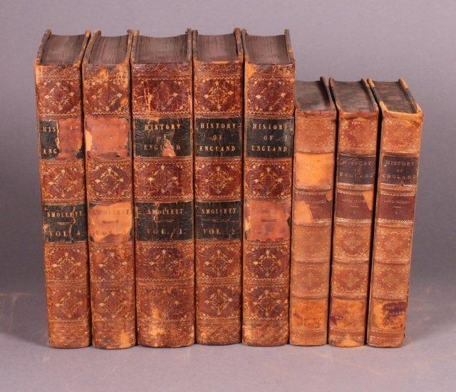2 Titles (8 Vols): Smollett, 5 Vols, 1818 + Mahon.