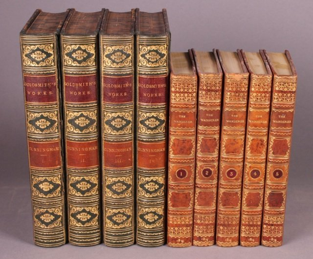 9 Vols incl: WORKS OF OLIVER GOLDSMITH, 4 Vols.