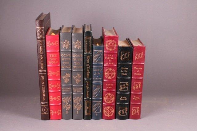 10 Vols: Easton Press. Mitchell, Steinbeck, others