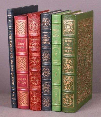 6 books: EastonPress. John Donne, British poets.