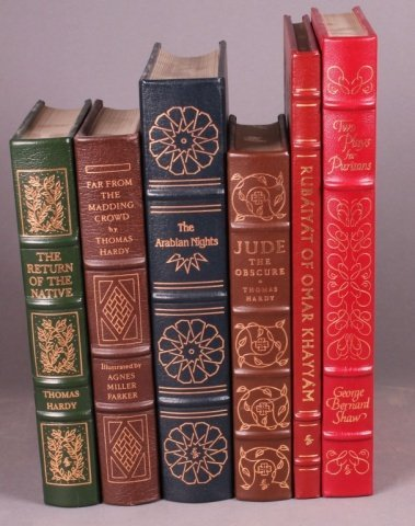 6 Books: Easton Press. Hardy, Shaw, Burton others.
