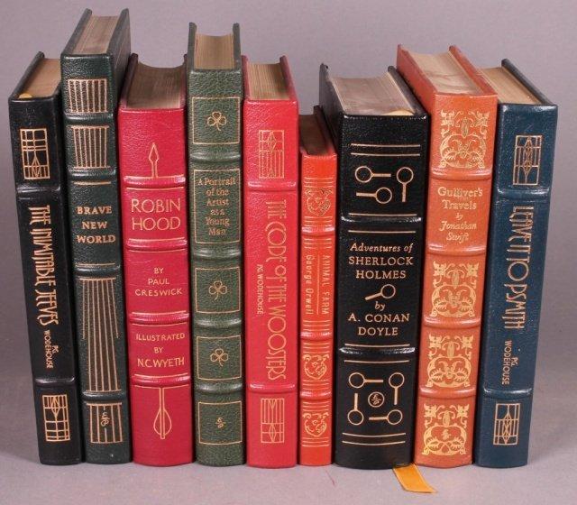 9 Books: Easton Press. Wodehouse, Doyle, others.
