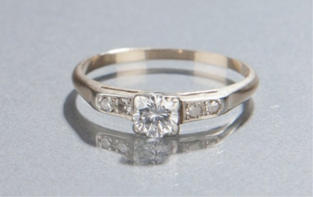 17: Diamond engagement ring.