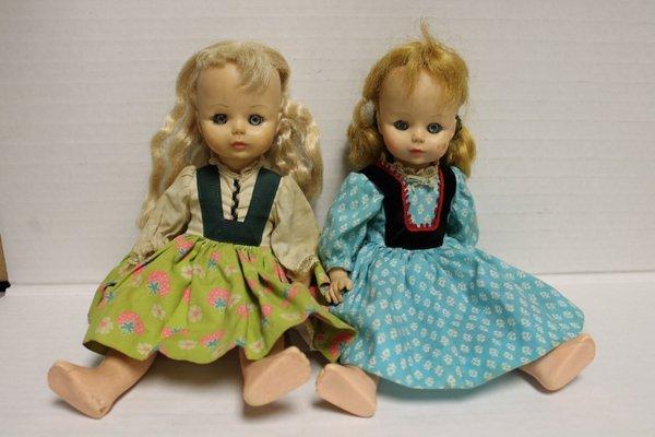 Madame Alexander Jenny Lind and Heidi dolls. Includes M