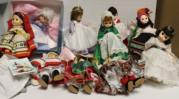 11 Madame Alexanderkins dolls incl Scarlet from Gone wi
