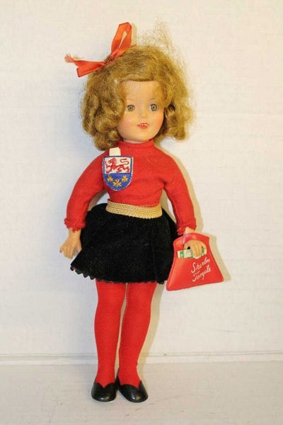 """Ideal Shirley Temple doll 12"""" w/ original clothes. 1957"""