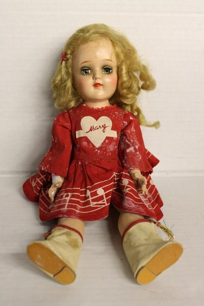 """Ideal Mary Hartline doll #P-91. Marked """"P-91 Ideal Doll"""