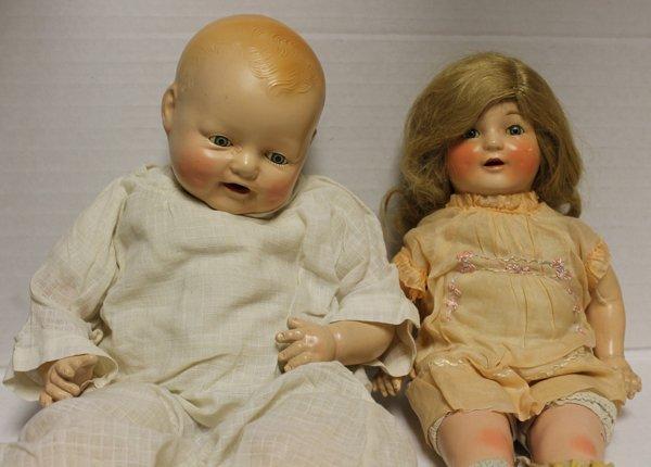 Group of 2 Horsman Dimples dolls. Includes E.I.H (Horsm