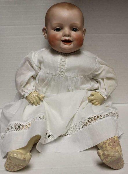 """Georgene Averill """"Bonnie Babe"""" bisque head doll. Marked"""