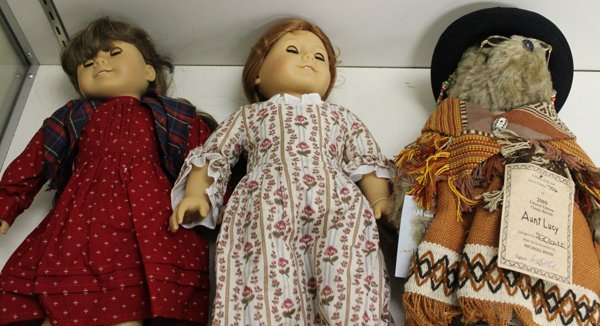 2 American Girl Dolls & Paddington Bear,