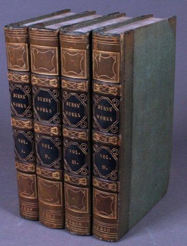 The Works of Robert Burns. 4 Vols. 1800.