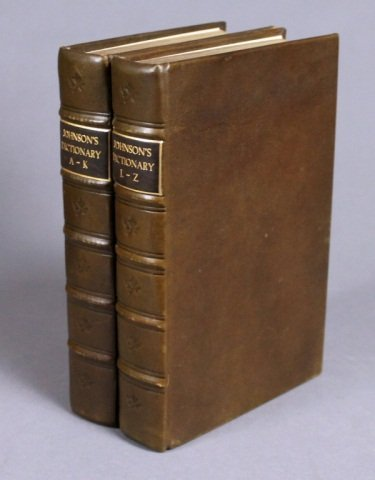 Johnson. DICTIONARY... 2 Vols. 1783.