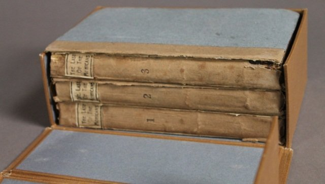 THE LAST OF THE MOHICANS. 3 Vols. 1826. 1st UK ed.