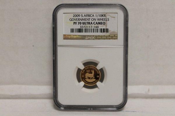 2009 S. Africa 1/10 oz fine gold.