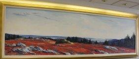 Paul Rickert oil on canvas landscape.