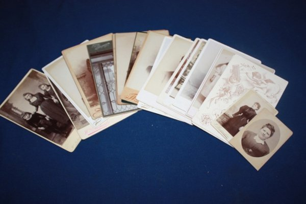 Lot of 19th c. photo cards and CDV's