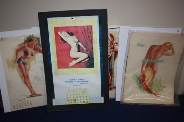 Lot of pin up calendars pages