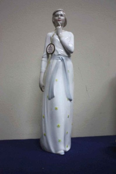 "13 1/4"" Royal Daulton figurine titled"