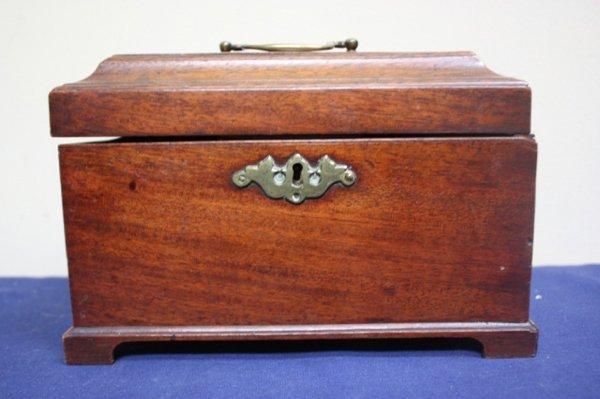 19th c. English Mahogany tea caddy