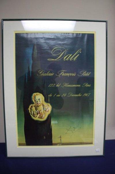 framed Dali print  Gallerie Francois Petit.
