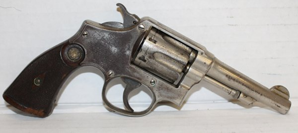 Smith & Wesson double action .38 cal revolver.