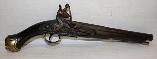English Brander & Potts flintlock pistol c 1810