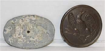 Group of 2 Civil War era belt buckles