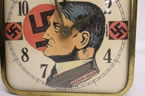 WWII-era Adolf Hitler alarm clock. - 4